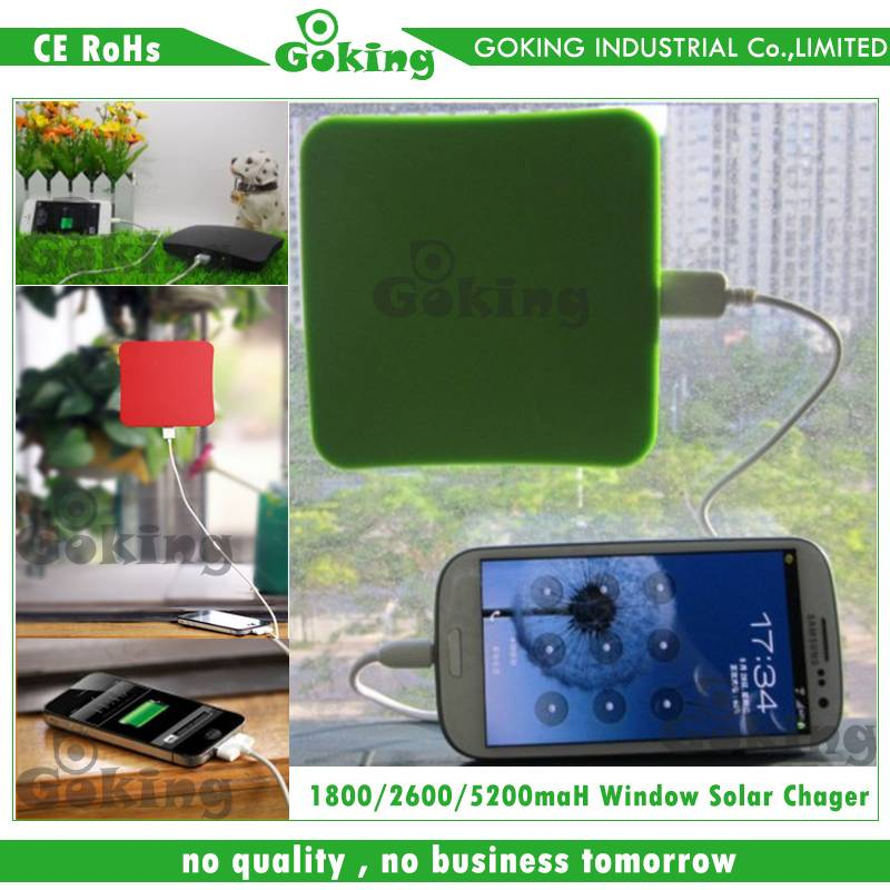 Window Solar Chargers for Mobile Phone and Pad