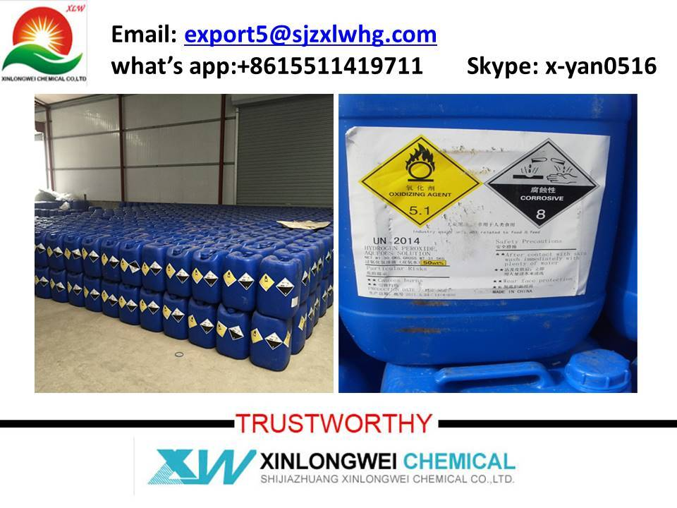 factory supply hydrogen peroxide 27.5% to 50% with favorable price,tech grade