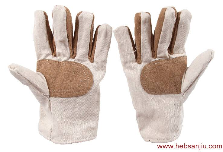 Mosaic canvas labor work gloves