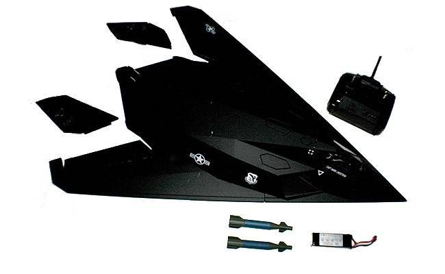 RC F117 Stealth Fighter RC Airplane 6 Channel 2.4G BOMB