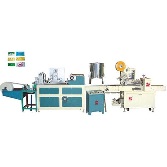 Full-auto wet tissue packing machine
