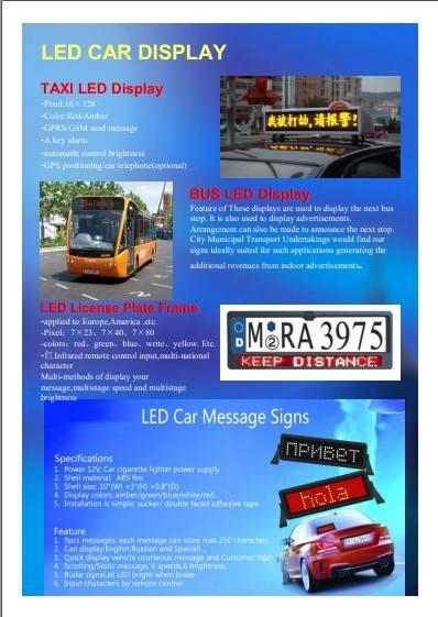 LED car sign series