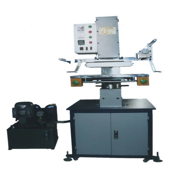 TJ-63 hydraulic leather embossing gilding press machine