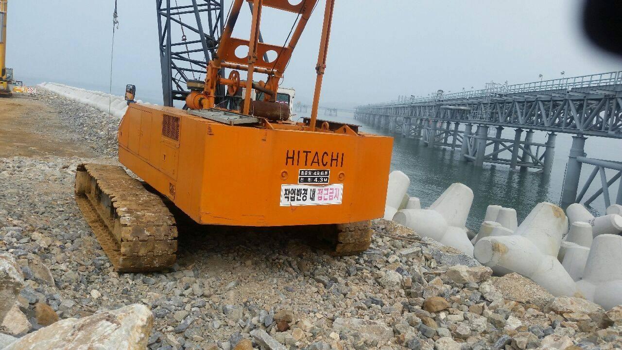 Hitachi 50 ton crawler crane