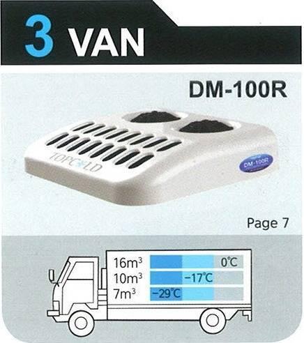 TOPCOLD / DM-100R / Truck Refrigeration Unit / Reefer Van / Refrigerator Truck / Made in Korea