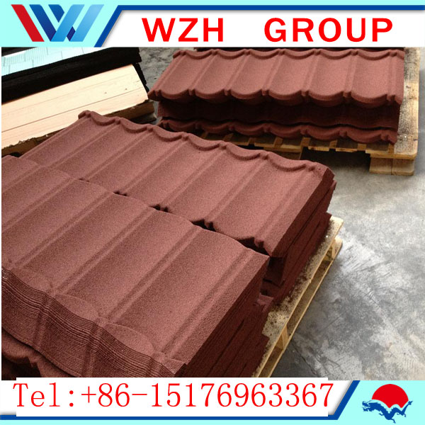Classic type stone coated steel roofing tile as the roofing tile building materials