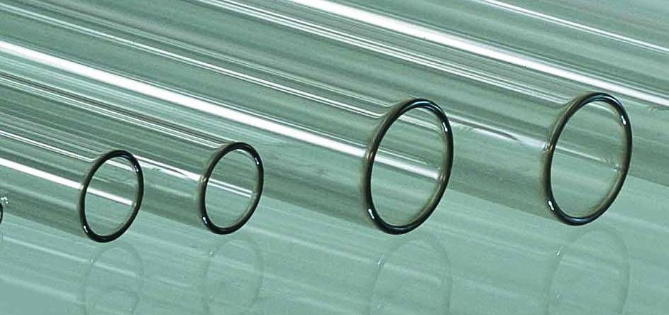 lead free glass tube section