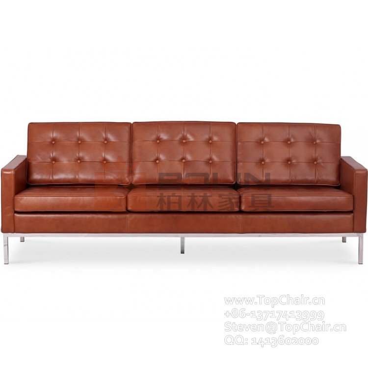 Reproduction3 Seat Sofa by Florence Knoll