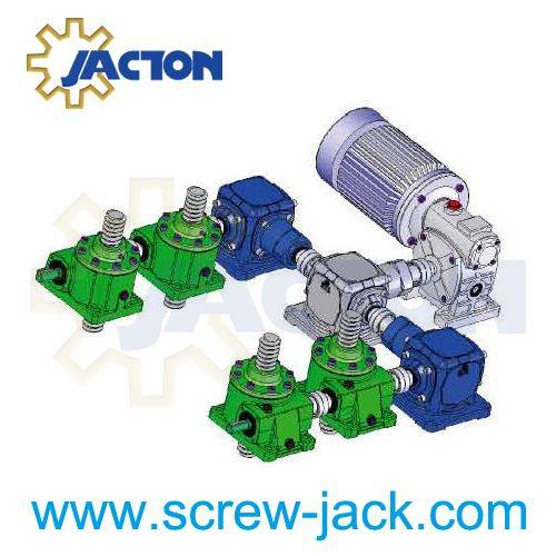 worm gear machine screw linear actuators systems