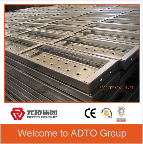 Manufacturer in Tianjin Q195 pre galvanized Metal plank steel board for scaffolding system