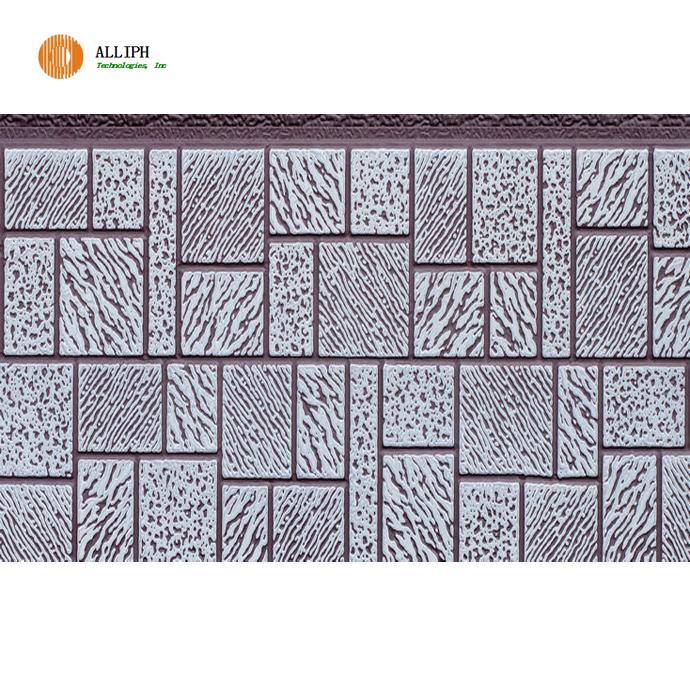 Mosaic texture pu foam sandwich panel for container house light steel villa