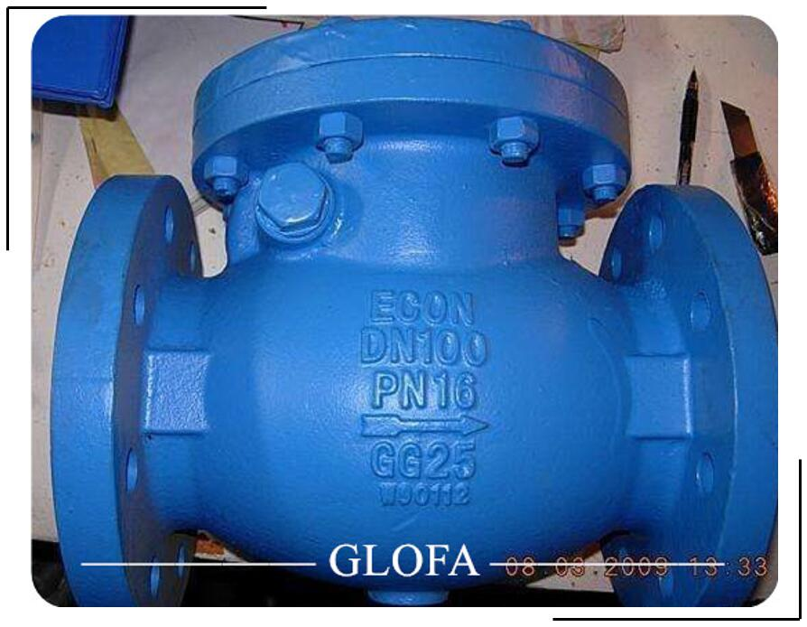 Ductie Iron GGG40 Flanged Bolted Cover Brass Seat Swing Check Valve PN16