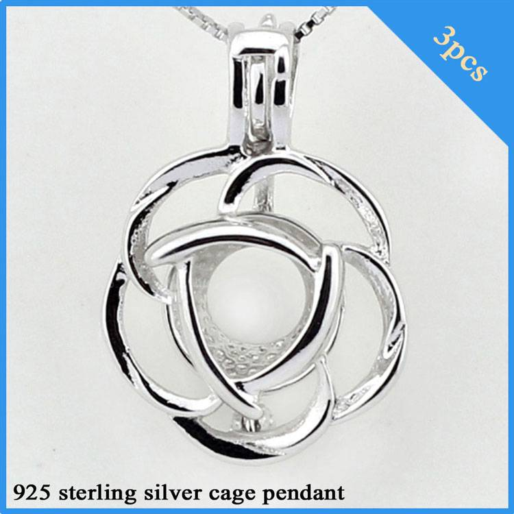 sterling silver cage pendant