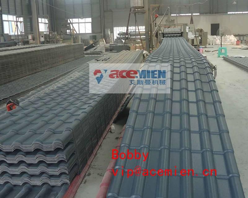 880mm PVC+ASA glazed tile roll forming machine