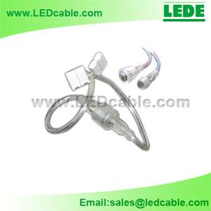 4 Pin Waterproof Connector to Solderless Connector For LED Strip