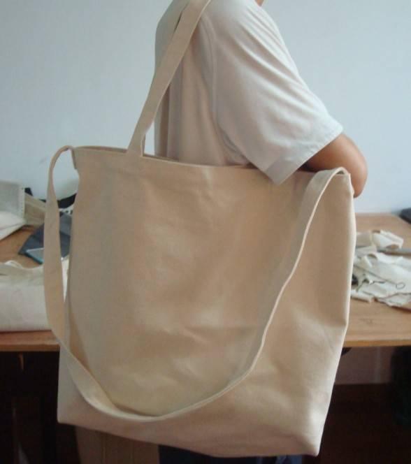 plain white thick quality cotton tote shopping bag wholesale