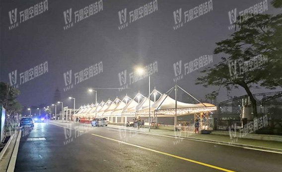 Dragon boat plaza competition stand membrane structure