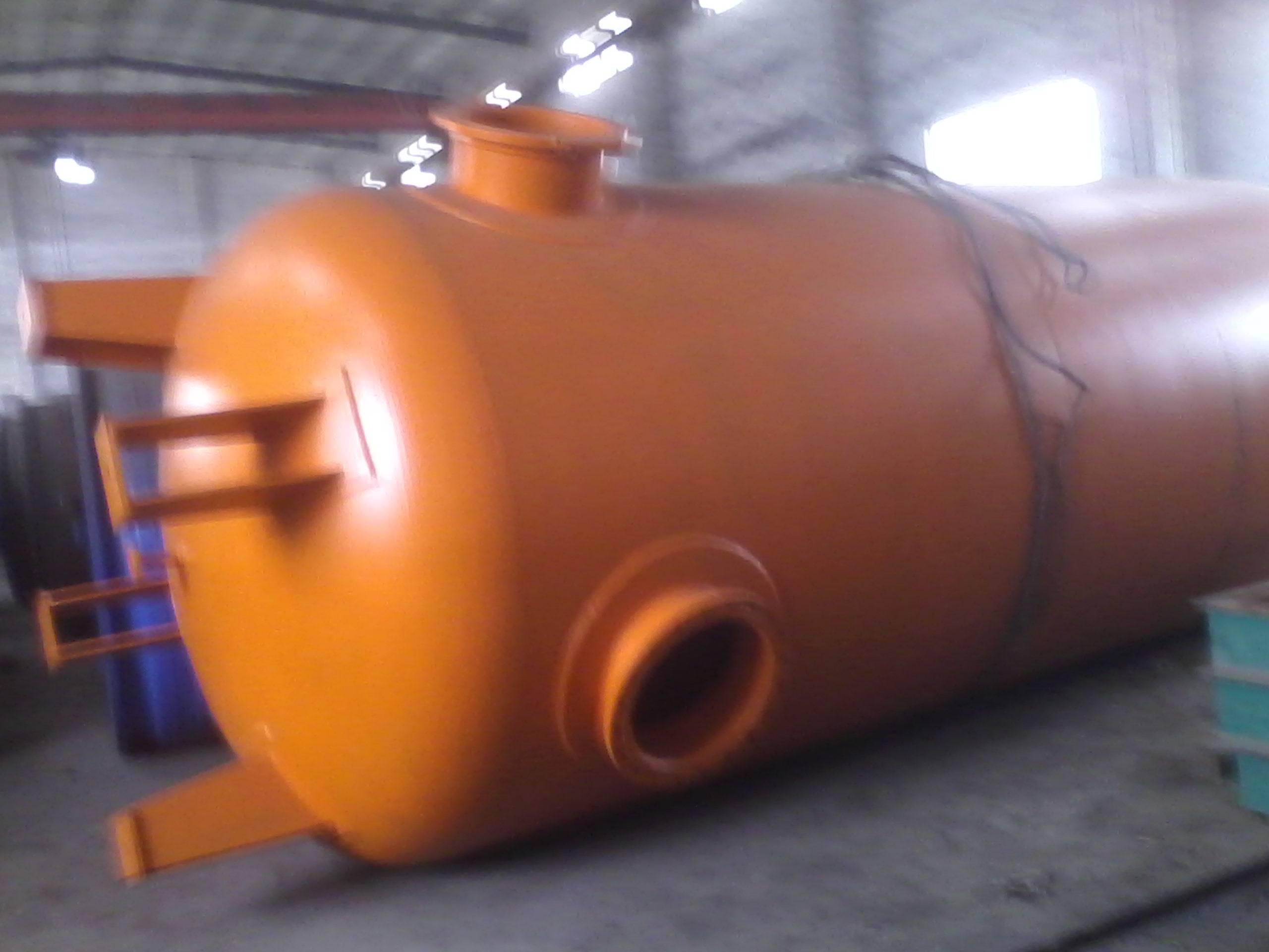 The heat exchanger.Rectifying column.Storage tank