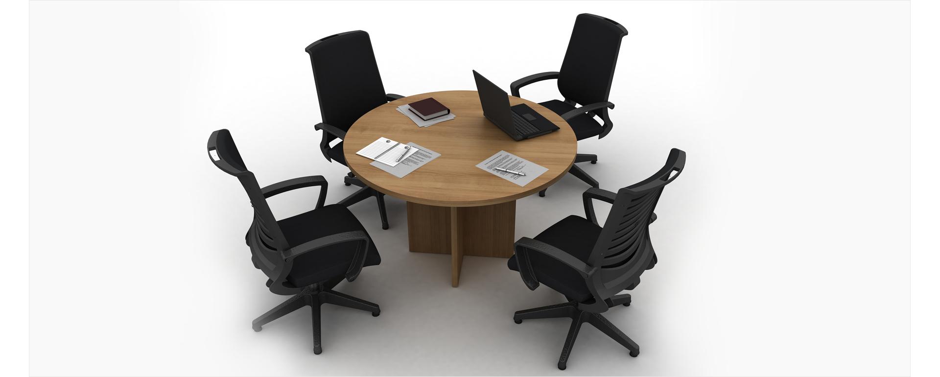 Innovative And Modern Round Wooden Meeting Desks Made In Turkey