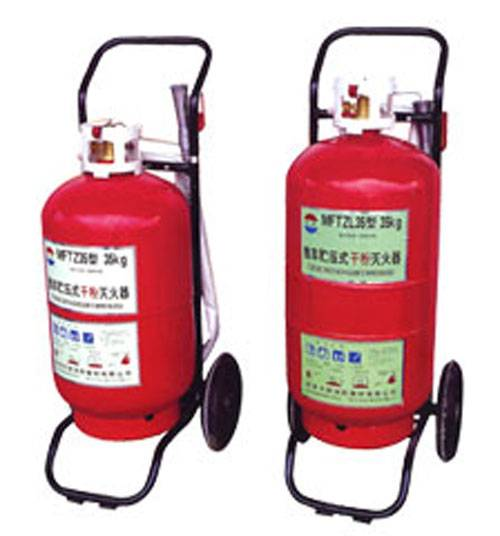 Transportable powder extinguishers