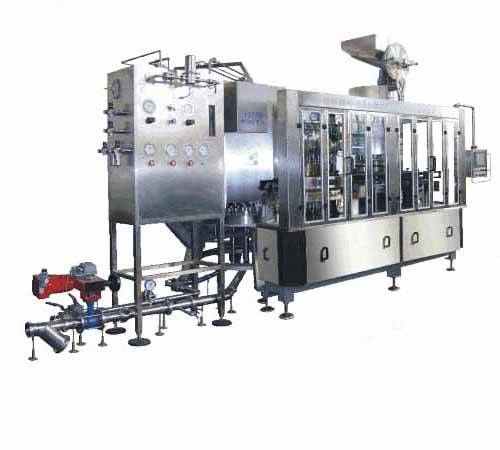 Supply beer filler crown capper monobloc beer filling bottling machine