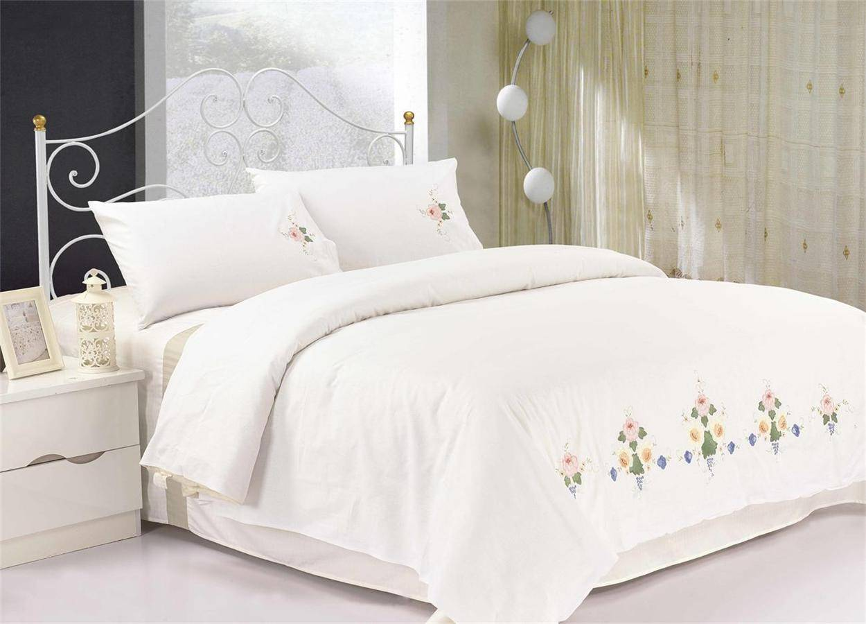 Pure Cotton Applique Fitted Sheet Set
