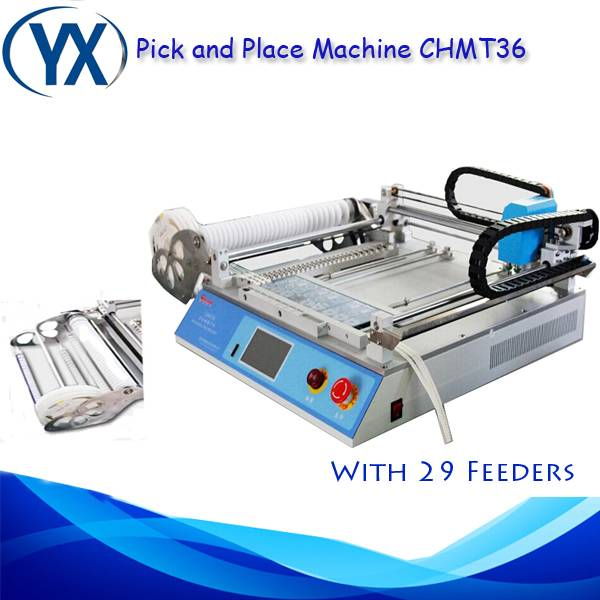 Soldering Machinery CHMT36 Pick and Place SMT Desktop Low Cost for LED Prodution Line