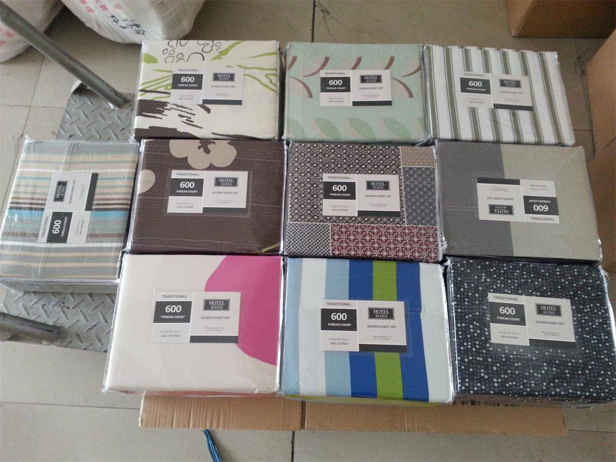 100% cotton 200T  printing bedding set from stock fabric