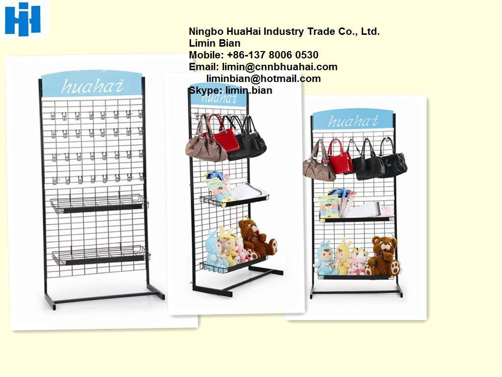 Assembling display rack with wire tray