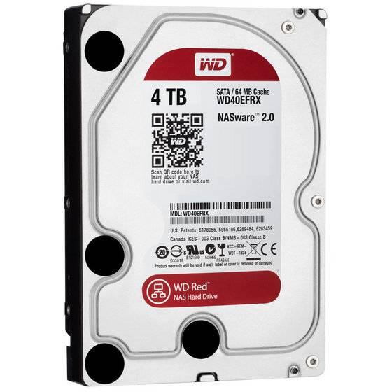 Western Digital WD40EFRX WD Red 4TB Internal HDD Desktop Hard Drive Disk