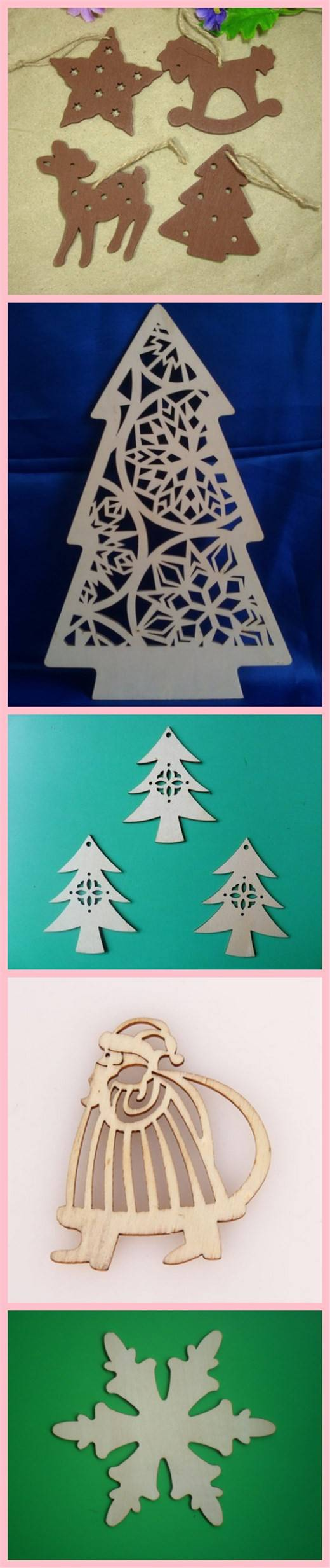 Christmas wood, acrylic decoration and wall hangings on sale
