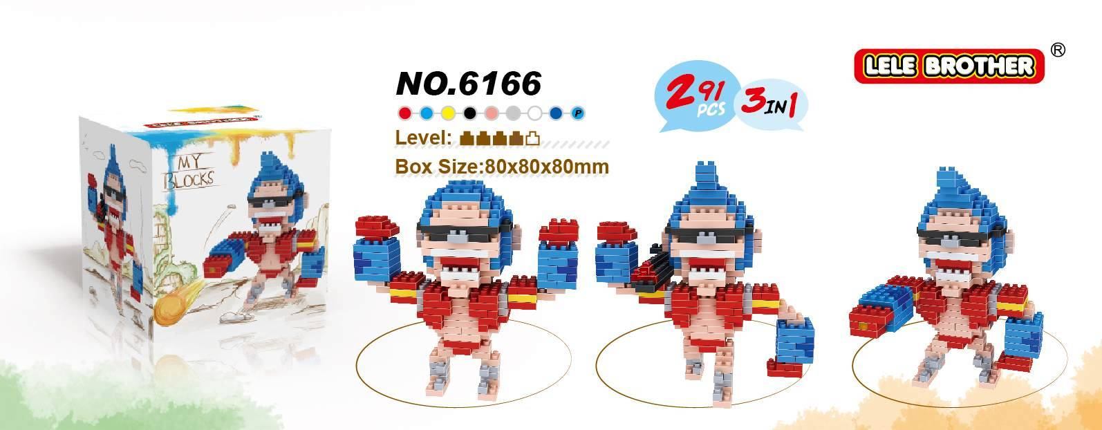 Lele Brother Diamond Block One Piece Series Franky 3 in 1 New Item 2015