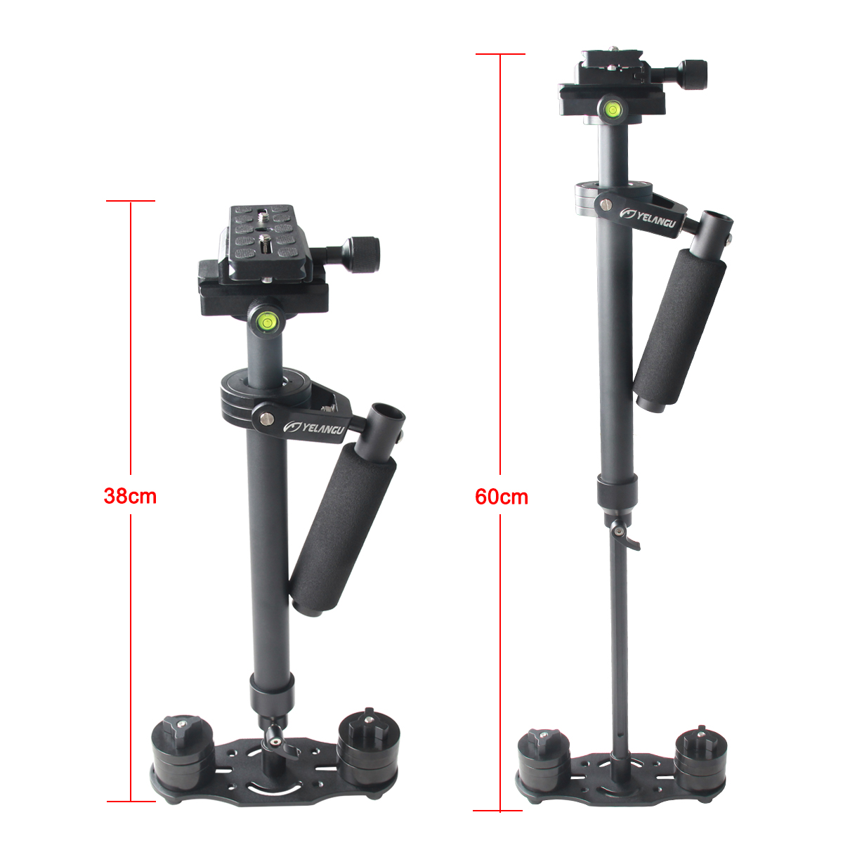 YELANGU 2016 Portable Video Camera Stabilizer S60N with 60cm Adjustable Aluminium Rods Support DSLR