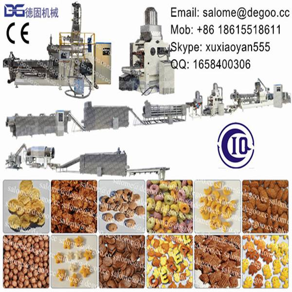 Kellogg Breakfast Cereal Corn Flakes Extruder Machine Production Line