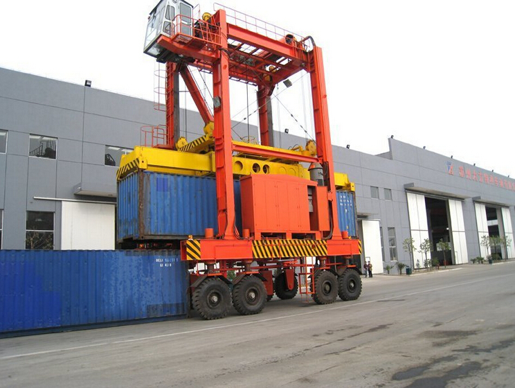 container straddle carrier,Rubber Tyre Port Lifting Gantry Crane
