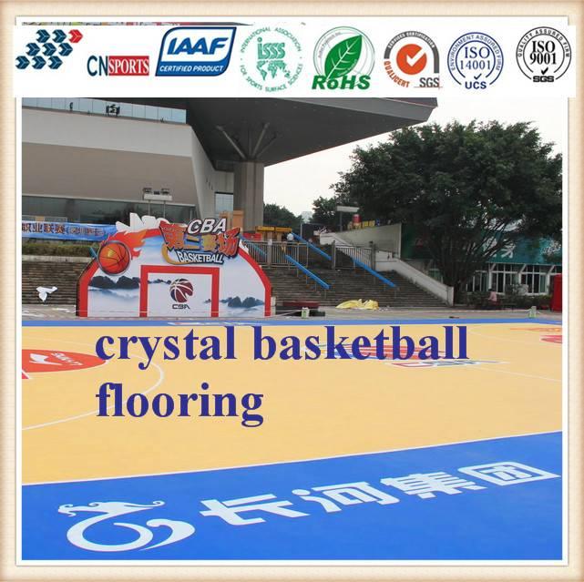 Cn-S04 Environmental Protection Crystal Basketball Spu Flooring
