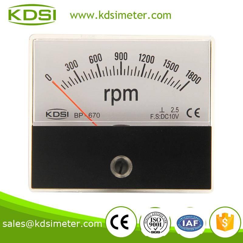 KDSI electronic apparatus BP-670 DC10V 1800RPM analog rpm meter