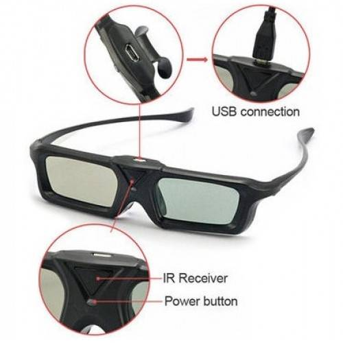 DOMO nHance AS20i USB Active Shutter Infrared 3D Glasses