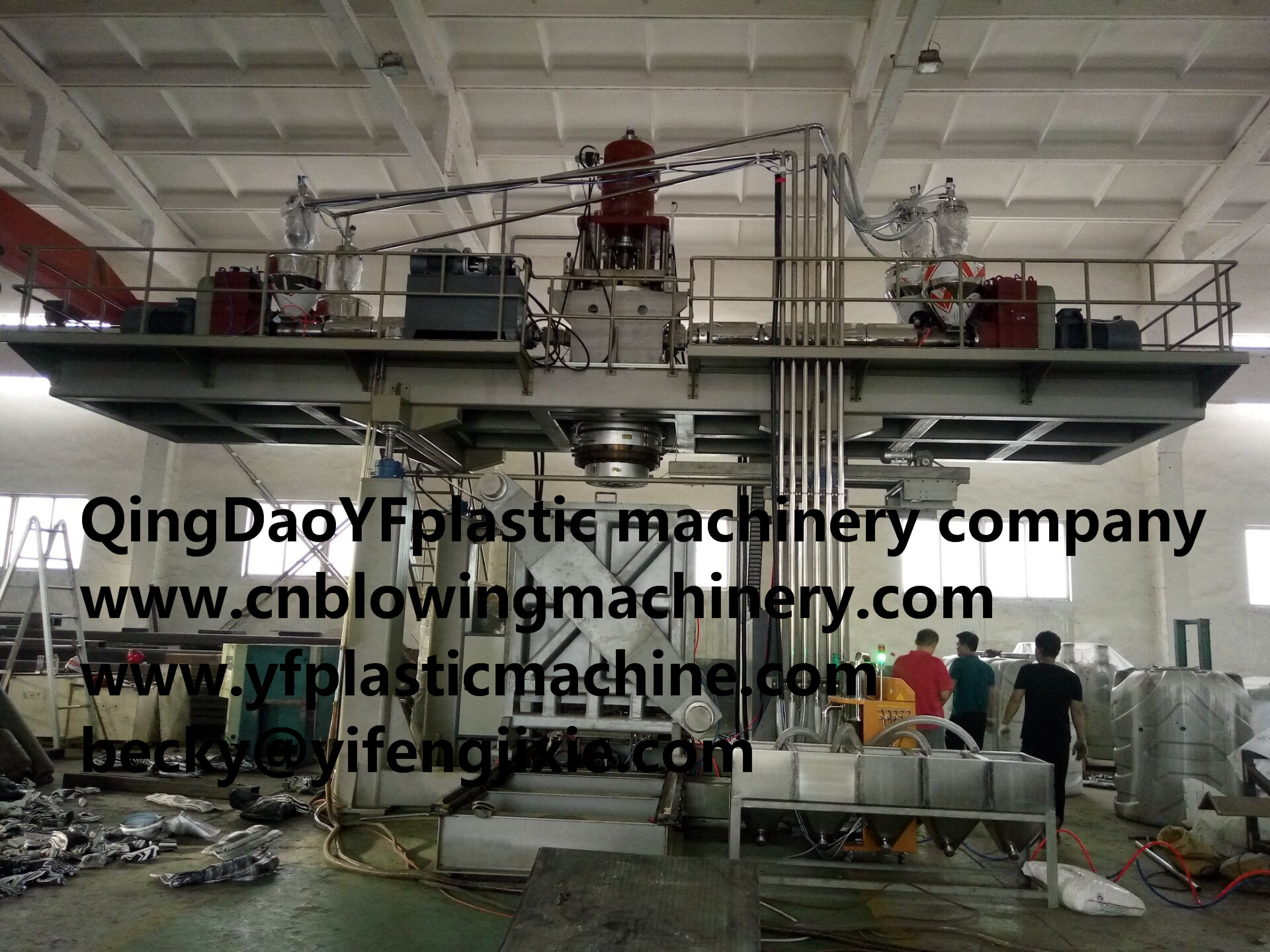 5layers water tank blow molding machinery