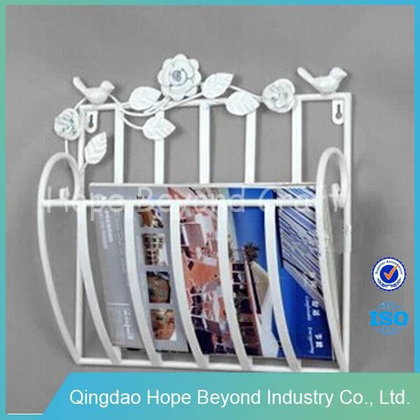 Office furniture metal wrought iron magazine racks