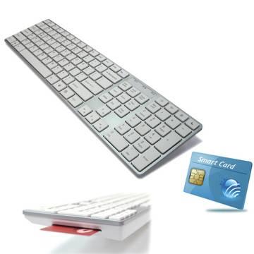 Smart Card Mac Compatible USB keyboard KB-801S