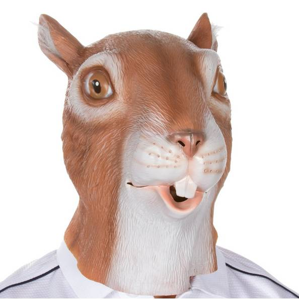 Youtumall Latex Squirrel Adult Costume Mask