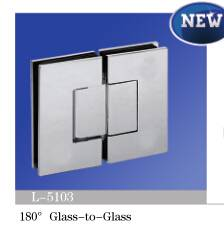 NEW! Brass Shower Hinge/Glass Door Hinge/Deg180 Glass to Glass L-5103