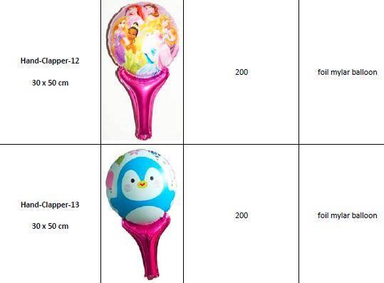 Offer Various Hand Clapper Stick Foil Mylar Balloons