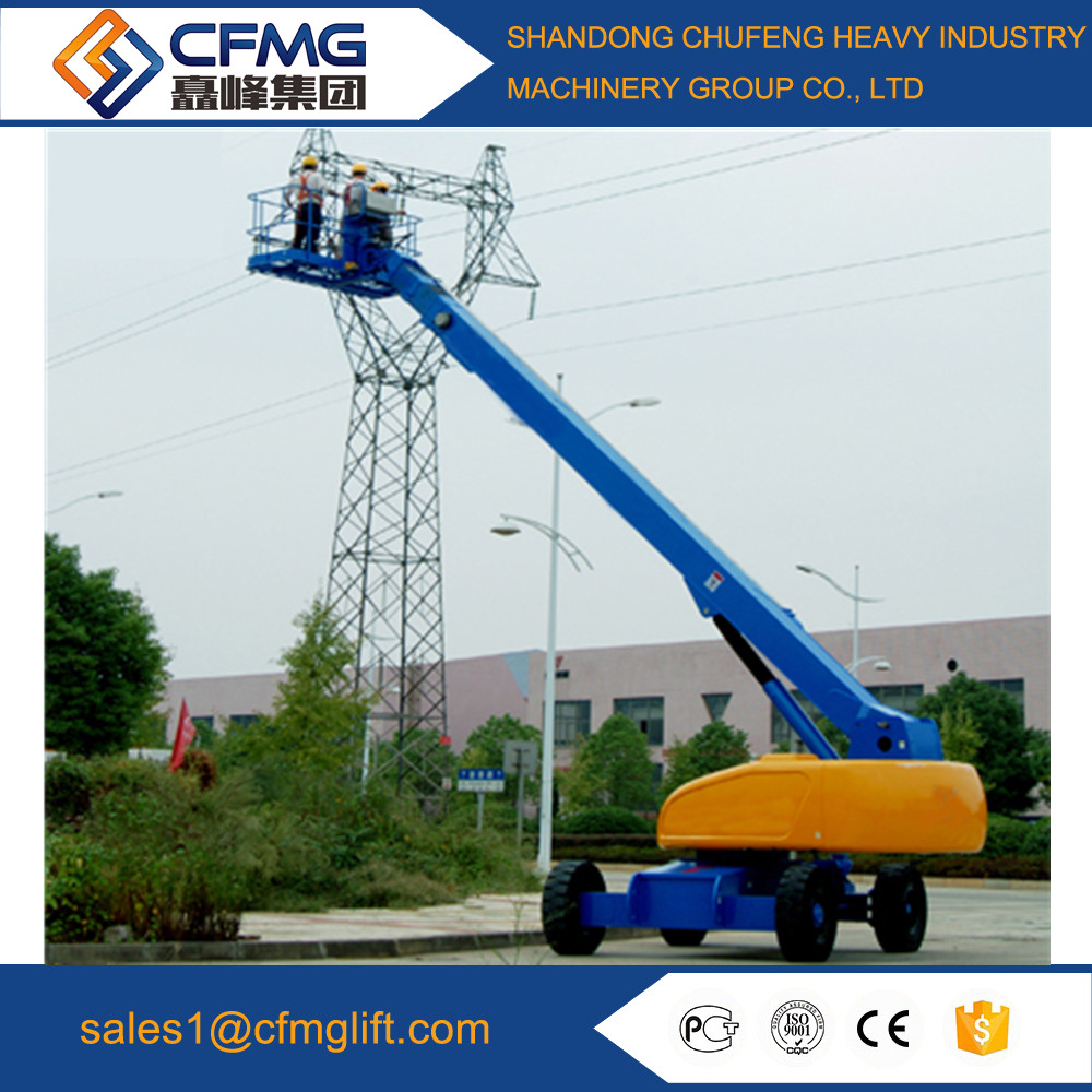 mobile hydraulic lift/28m telescopic boom lift