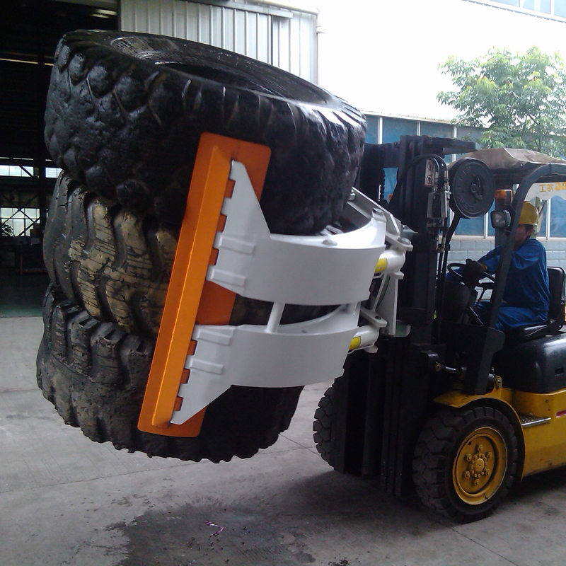 Forklift Hyraulic Tyre Handler Tyre Clamp Rotating