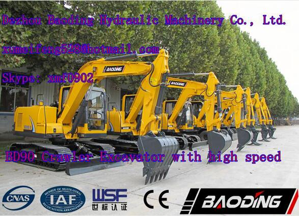high speed crawler excavator BD90 excavator for sale