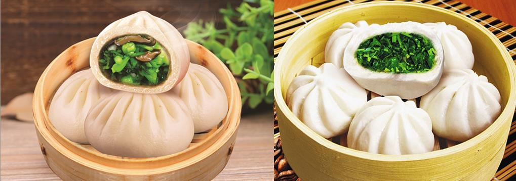 Xiaolian Factory Made Vegatable Bun Buns Chinese Traditional Dim Sum Steamed Bun Snack Food