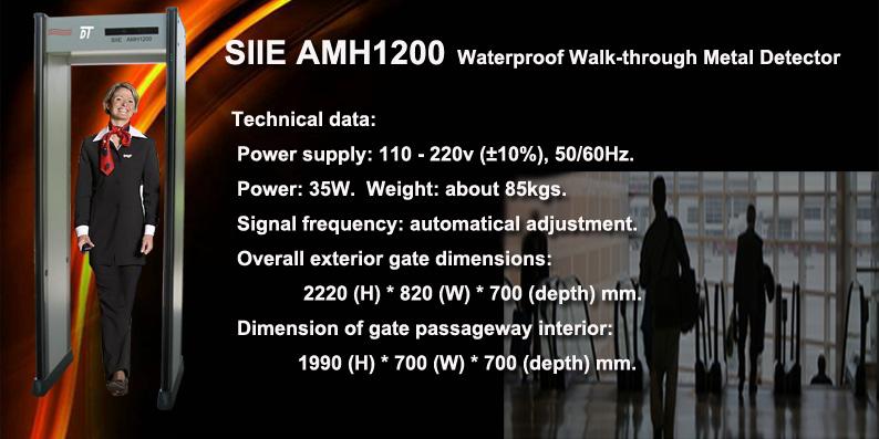 Waterproof Walk-through Metal Detector gate, rainproof walk-through detector, outdoor metal detector