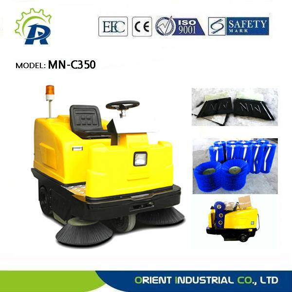 Electric parking lot sweeper